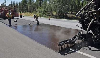 Tar and Chip Roadway Installation Process