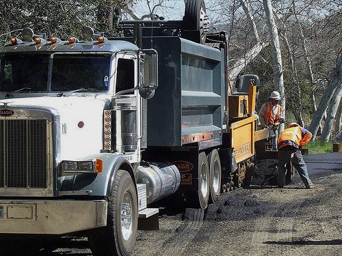 Asphalt Crew and Truck, Farm Road Installation